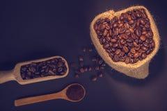 Caffè a terra e fagioli Immagine Stock Libera da Diritti