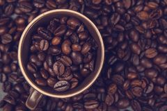 Caffè a terra e fagioli Fotografia Stock