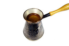 Caffè turco che fa vaso Fotografia Stock Libera da Diritti