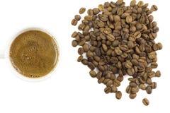 Caffè turco con i chicchi di caffè Immagini Stock Libere da Diritti