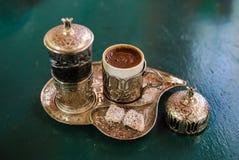 Caffè turco dalla cima fotografia stock libera da diritti