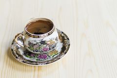 Caffè turco in una tazza operata immagini stock libere da diritti