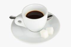 Caffè in una tazza con il cucchiaio Fotografia Stock Libera da Diritti