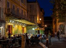 Caffè Van Gogh, Arles, Francia fotografia stock libera da diritti