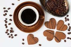 Caffè Vista superiore Fotografia Stock