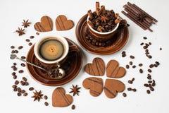 Caffè Vista superiore Immagini Stock
