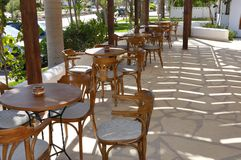 Caffè vuoto dell'hotel Fotografia Stock Libera da Diritti