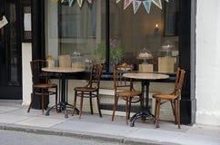 Caffè vuoto della via Immagine Stock