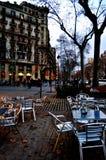 Caffè vuoto della via Fotografia Stock Libera da Diritti