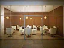 Caffè vuoto nella progettazione contemporanea Fotografia Stock