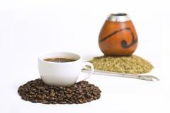 Caffè & yerba Fotografia Stock