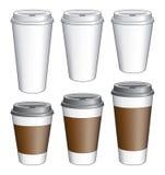 Caffè da andare tazze Fotografia Stock Libera da Diritti