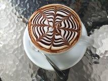 Caffè di Art Mocha Fotografia Stock Libera da Diritti