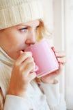 Caffè di inverno Immagine Stock