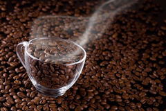Caffè-fagioli Fotografie Stock Libere da Diritti