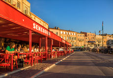 Caffè Senequier, Saint Tropez, Francia Fotografia Stock