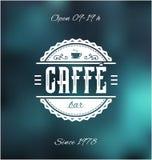 Caffe酒吧标签 免版税图库摄影