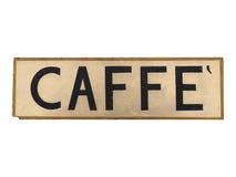 caffe σημάδι Στοκ φωτογραφία με δικαίωμα ελεύθερης χρήσης