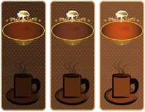 Caffe. Coffee cup price tag Vector Illustration
