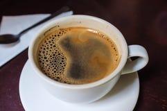 Caffe Americano. Fresh caffe americano in cafe stock photo