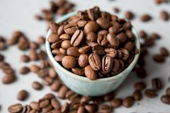 Caffe bönor, caffe, drink, kaffe, espresso, Fotografering för Bildbyråer