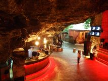 Caffe bar The cave royalty free stock photo
