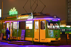 Caffe Bimba tram Stock Images