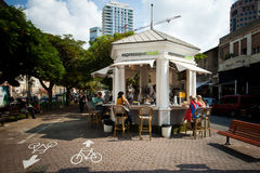 Caffe kiosk in tel aviv Stock Photo