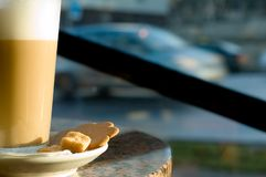 caffe latte 免版税库存图片