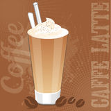 Caffe Latte background Royalty Free Stock Images