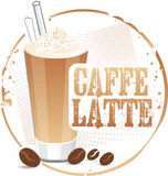 Caffe Latte stamp Royalty Free Stock Photography