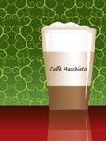 Caffe macchiato with reflection. Caffe macchiato vector with reflection Stock Image