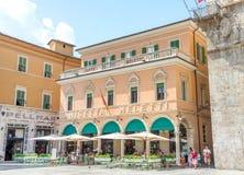 Caffe Meletti - Ascoli - ΤΠ Στοκ Φωτογραφίες