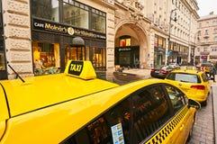 Caffe Molnar ` s在城市布达佩斯 免版税库存照片