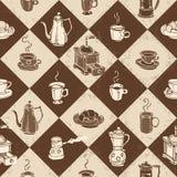 Caffe-Muster Lizenzfreie Stockbilder