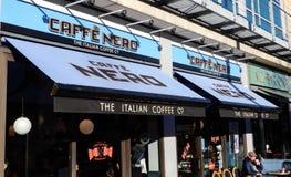 Caffe Nero i Wszystko bar Jeden Obraz Stock