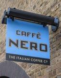 Caffe Nero kaffehus Fotografering för Bildbyråer