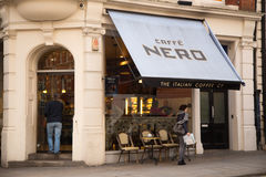 Caffe nero. LONDON - JANUARY 22nd: The exterior of caffe nero on January the 22nd, 2015, in London, England, UK. Caffe nero is one of europes largest coffee shop stock photo