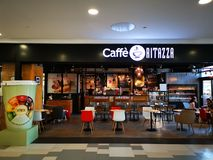 Caffe Ritazza przy placem Rumunia obrazy royalty free