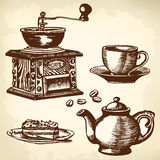 Caffe set Royalty Free Stock Images
