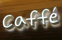 Caffe Sign Stock Images