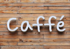 Caffe Sign Stock Image
