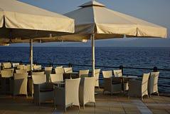 Caffe no por do sol Imagem de Stock Royalty Free