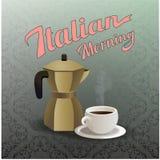 Caffe włocha styl Zdjęcia Royalty Free