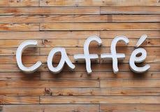Caffe-Zeichen Stockbild