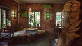 Caffee咖啡馆内部,里面,设计餐馆 免版税库存图片