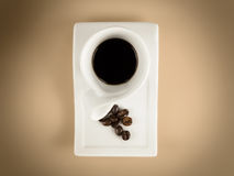 Caffee cup espresso beans Royalty Free Stock Photo