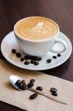 Caffee-Kunst spät lizenzfreie stockbilder