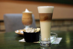 Caffee Latte macchiato in Restaurant Stock Image