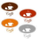 Caffee set design Royalty Free Stock Image